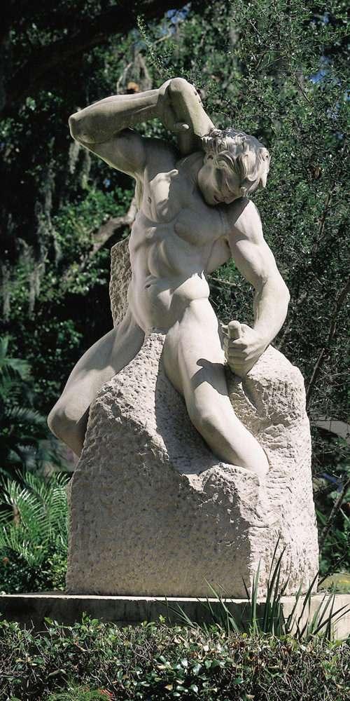Man-Carving-His-Own-Destiny-Polasek-Archives-limestone-19611